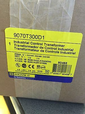 Industrial control transformer Schneider Electric 9070T300D1 Square D TFMR