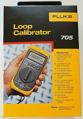 FLUKE 705 LOOP CALIBRATOR 28V 24mA CURRENT 0.025 PERCENT ACCURACY NEW IN BOX