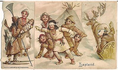 """""""Lapland"""" Sports & Pastimes of Nations Arbuckle Coffee Advertising Trade Card"""