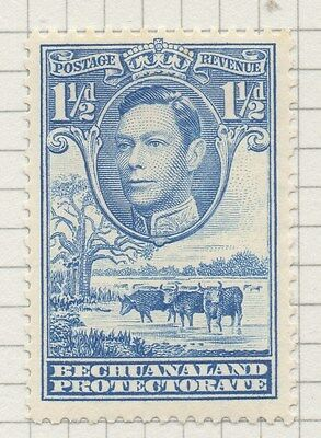 BECHUANALAND;     1938 early GVI issue fine Mint hinged 1.5d. value, shade