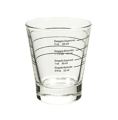 Professional Shot Glass for Espresso and Ristretto Shots Coffee Machine Glasses