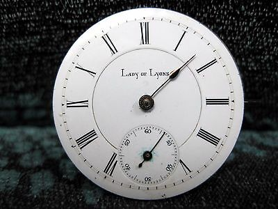 Antique Lady of Lyons., Pocket Watch Movement 36 mm in size  Key Wine
