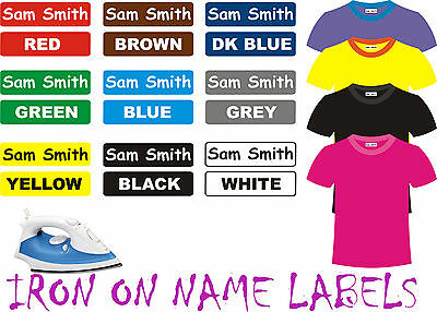 IRON ON Clothing Name Labels School Day Care Tag Aged Care Bag  42pcs 30x9mm