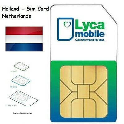 Lycamobile NL Prepaid Sim Card no Registration required – anonym : Plug & Play