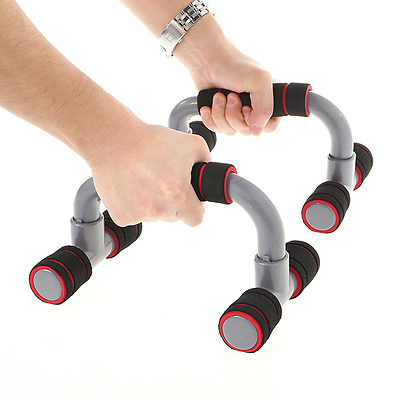 Black Push Up Bar Push-up Stand Grip for Home Fitness Exercise AU STOCK