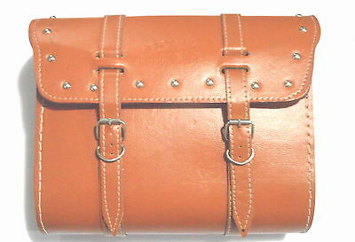Royal Enfield Saddle Leather Bag With Fitting Strips