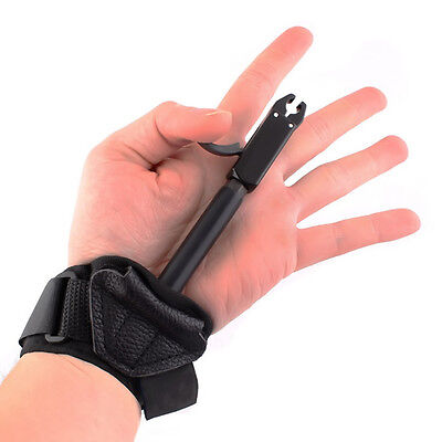 Adult Compound Arrow Bow Archery Caliper Release Shooting Trigger Wrist Strap