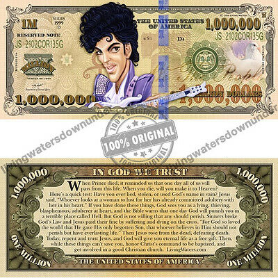 100 x American Prince $1 Million Dollar Bill Gospel Tract - Note Currency Money