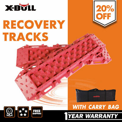 Recovery Tracks Pair Red Tyre Ladder Caravan Sand Snow Tracks 4WD ATV Off Road