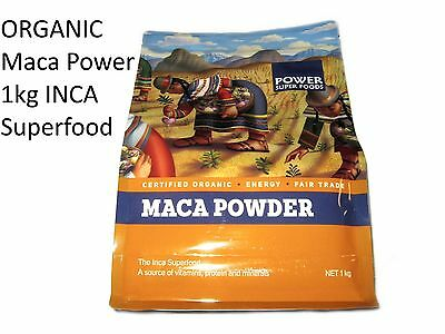 POWER SUPER FOODS Maca Power 1kg INCA Superfood 100% Dry Root Powder ORGANIC