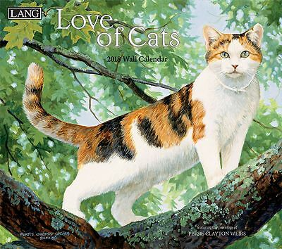 Love of Cats 2017 Lang Calendar By Persis Clayton Packed Well New Free Shipping