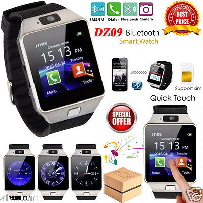 DZ09 Bluetooth LCD Smart Watch For Android Samsung Phone With Camera SIM Slot UK