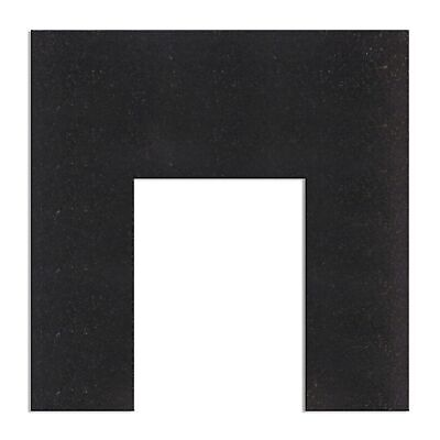 Fireplace Back Panel in Black Granite, 37 Inch