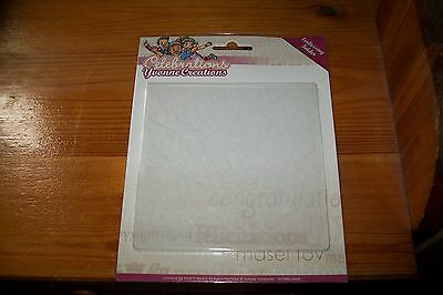 Yvonne Creations Celebrations Embossing Folder 12,5 X 12,5 Cm New