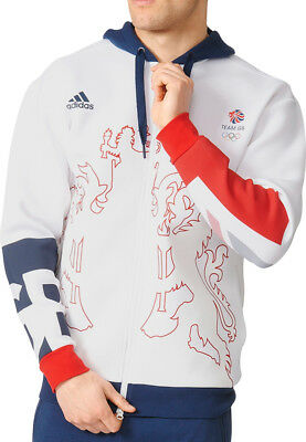 adidas Team GB Village Wear Mens Hoody - White