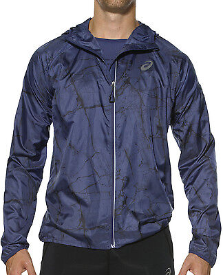 Asics FujiTrail Pack Mens Running Jacket - Blue