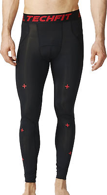 adidas Tech-Fit Recovery Mens Long Compression Tights - Black