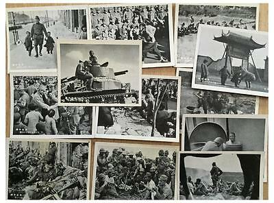 WWII CHINA JAPAN WAR PHOTO CARD lot 12 JAPANESE ARMY SOLDIER TANK