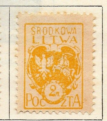 Lithuania (Central) 1920-21 Early Issue Fine Mint Hinged 2m. 074645