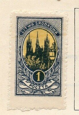 Lithuania (Central) 1921 Early Issue Fine Mint Hinged 1m. Imperf 074655