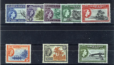 Gilbert & Ellice Islands 1956 Definitives Sg64/71 Mnh