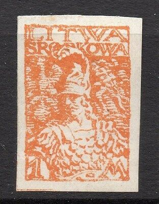 Lithuania (Central) 1920 Early Issue Fine Mint Hinged 1m. 074762