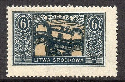 Lithuania (Central) 1920 Early Issue Fine Mint Hinged 6m. 074775