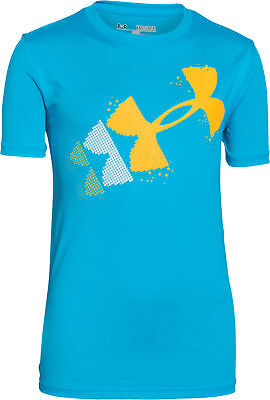 Under Armour Rising Pixelated Logo Junior Short Sleeve Top - Blue