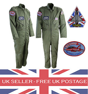 Boys Kids Flight Suit Air Force Aviator Overall Army Pilot Jumpsuit RAF Outfit