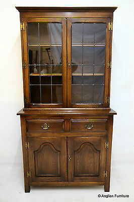Oak Display Cabinet Bookcase With Cupboard & Drawers FREE Nationwide Delivery