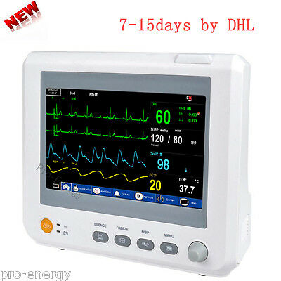 CE Vital Signs Patient Monitor 6 Parameters ICU/CCU 7 inch Color Multi Display