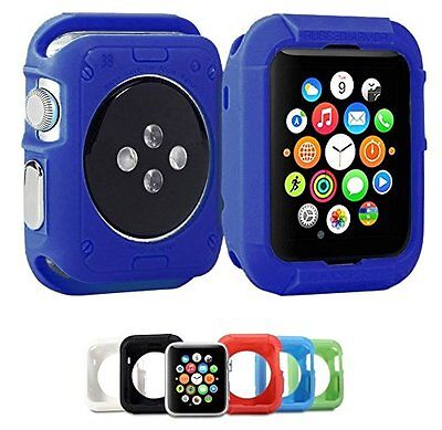 AZURE BLUE Cover Protector Sleeve Case Bumper Skin For 38MM APPLE WATCH iWatch 1