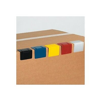 """Plastic Strap Guards, 2 1/2""""x2"""", Yellow, 1000/Case"""