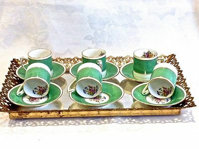 Magnificent Vintage Bone  China  Coffee Set For 6 Crafton England C 1950's