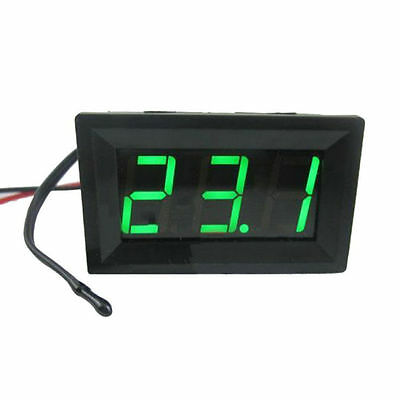 Red DC12V Digital Thermometer With Temp Probe Temperature LED Detector HL