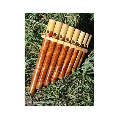 Fairtrade Wooden Bamboo 8 Note Panpipe Flute