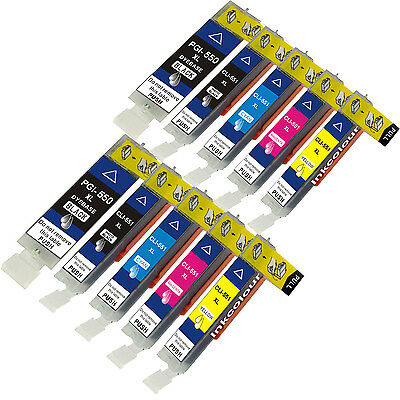 10 Non-OEM For Canon Pixma IP7250 MG5450 Ink Cartridges