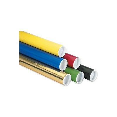 """""""Mailing Tubes with Caps, 2"""""""" x 24"""""""", Black, 50/Case"""""""
