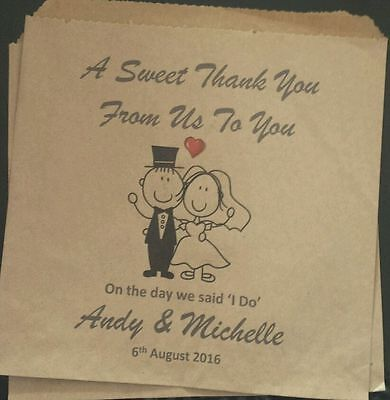 Personalised Vintage Sweet / Candy / Favour Bags for Weddings & Events