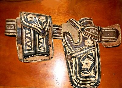 Museum Quality Vintage Antique Rare Old West Era Gun Rig Belt & Holster