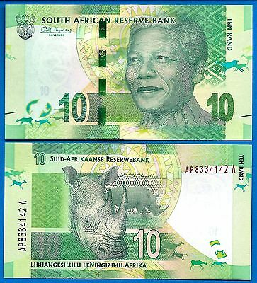 South Africa P-133 10 Rand, Year ND 2012 Mandela Uncirculated FREE SHIPPING
