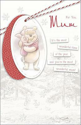 Winnie the pooh for you mum Christmas Greeting card - new, gift, xmas