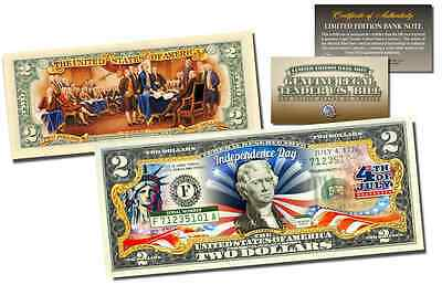 SERENITY PRAYER One Day at a Time Praying Hands Holy Genuine Legal $2 U.S Bill