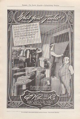1912 E V Price & Co Chicago IL Ad: Who's Your Tailor Highest Efficiency