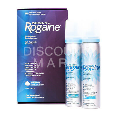 Rogaine Foam For Women Topical Aerosol 4 Month Supply 5% Minoxidil Hair Regrowth