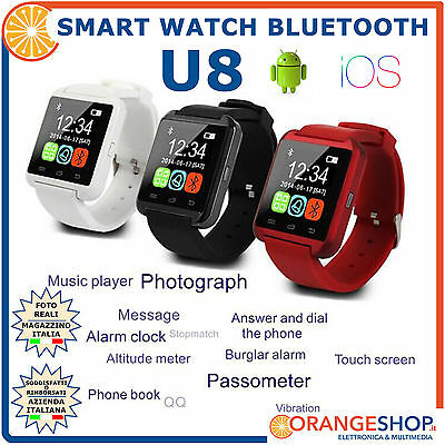 smart watch U8 smartwatch android ios bluetooth iphone samsung orologio