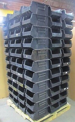 "100 QUANTUM STORAGE 14 3/4"" X 9 1/2"" X 7 3/8"" STACK HANG plastic PARTS BIN TOTE"