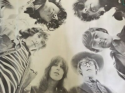 Vintage Jefferson Airplane Group Shot Poster Grace Slick 1960's Pin-Up Large 60s