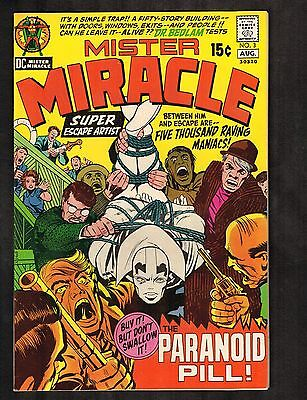 """Mister Miracle #3 ~J. Kirby Story, Cvr, & Art/""""The Paranoid Pill!""""~1974 (7.5) WH"""