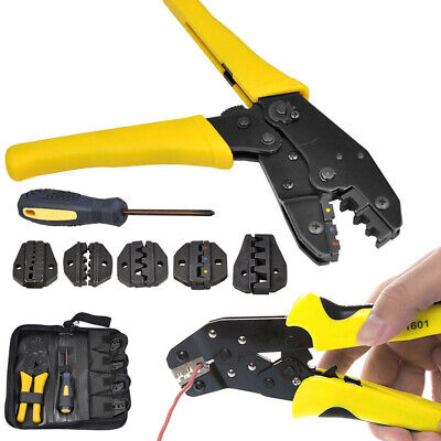 NEW Ratcheting Terminal Crimper Tool Set -Wire Ferrules Crimping for 0.5 -35 mm²